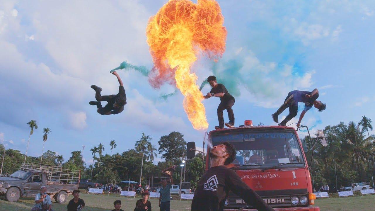 Parkour & Freerunning - Live Performance in Thailand