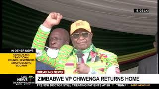 Zimbabwe's VP Constantino Chiwenga returns home from China