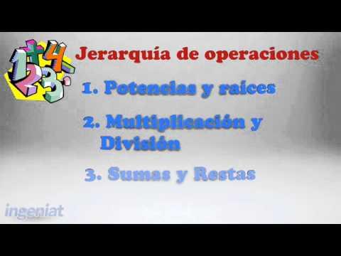 Jerarquía de operaciones - YouTube