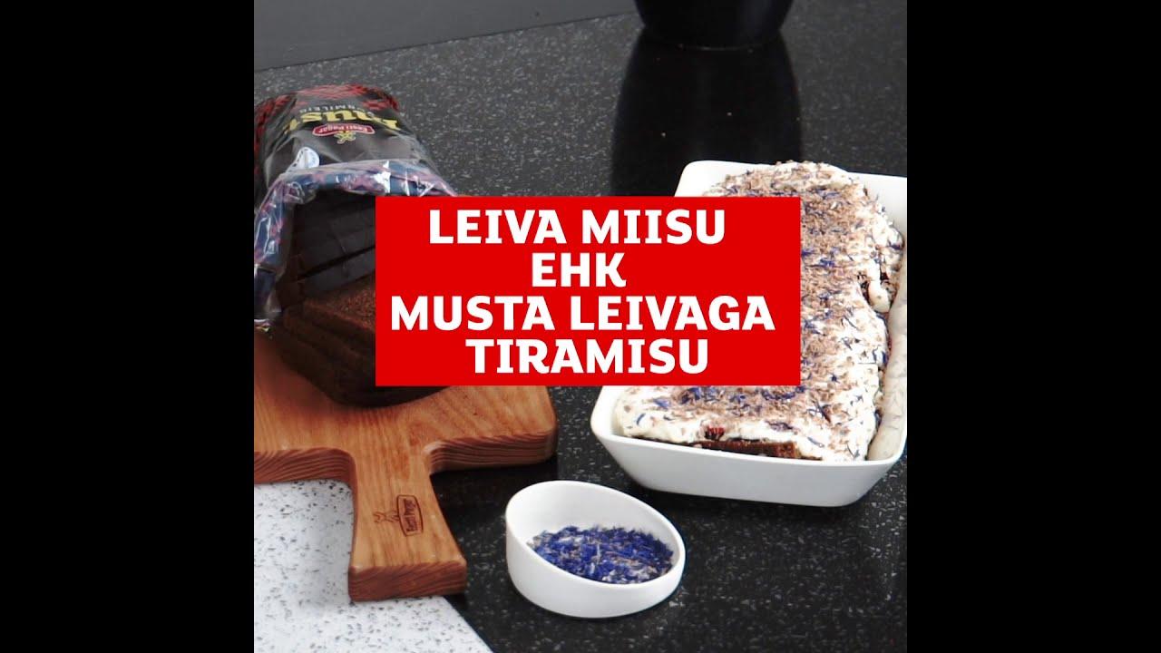 Leiva-Miisu ehk Eesti Pagari musta leivaga Tiramisu