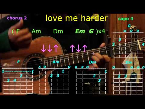 love me harder ariana grande the weeknd guitar chords