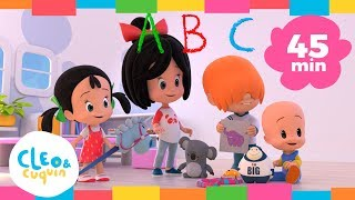 Cover images ABC SONG and more songs. Cleo & Cuquin Nursery Rhymes | Songs Collection (45min)
