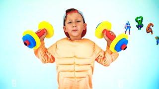 تشتري سينيا معدات التمارين للأطفال وتصبح قوية