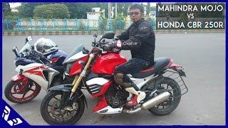 Mahinda Mojo Review | Vs Honda CBR 250R Comparison | RWR