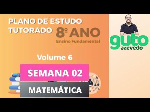 PET Volume 6 | 8º ano Fundamental | Semana 2 | Matemática | Correção das atividades | Guto Azevedo
