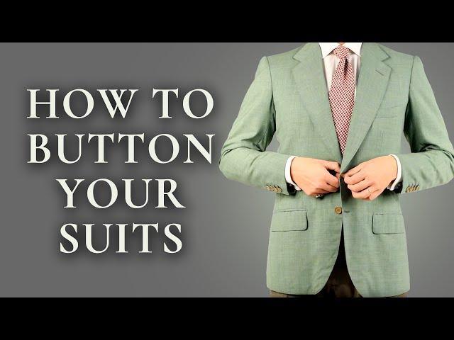 Ce que vous devez savoir à propos des boutons de costume