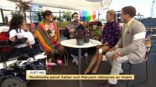 Homosexuell och muslim – I dag välsignas Sahar och Maryam av en imam - Nyhetsmorgon (TV4)