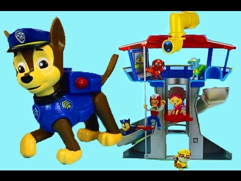 Paw Patrol Lookout Playset Marshall Chase Rocky Rider Skye Zuma Rubble Wheels on the bus school bus