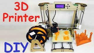 DIY 3D Printer | Assembling | Print 3D Objects(Diy 3D printer with assembling and printing 3d object with explanation of 3d printers working detail. Buy 3D Printer Kit from gearbest.com 3D Printer Kit ..., 2016-10-15T11:25:03.000Z)