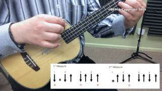 La Bamba Strum Pattern With Chords - Ukulele Practice Video 2