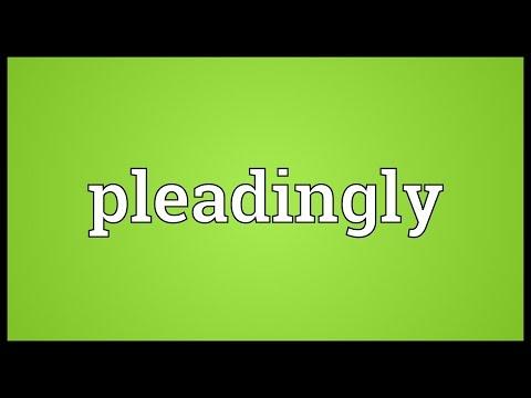 Header of pleadingly