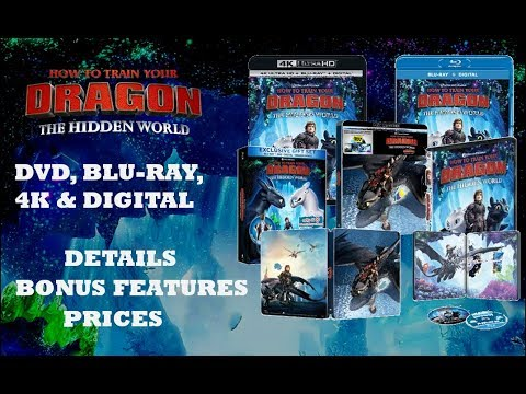 Dvd Blu Ray 4k Steelbook How To Train Your Dragon The Hidden World Httyd 3 Bonus Features Youtube
