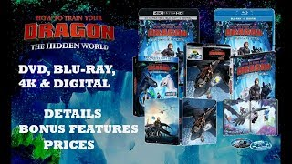 DVD, Blu-Ray, 4K, Steelbook - How To Train Your Dragon The Hidden World    HTTYD 3 Bonus Features