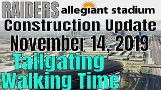 Las Vegas Raiders Allegiant Stadium Construction Update 11 14 2019