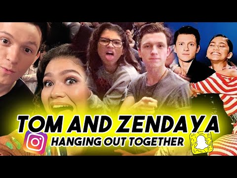TOM HOLLAND AND ZENDAYA CANT STOP MAKING EACH OTHER LAUGH  Snapchat Instagram Funny Moments