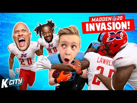 Madden NFL 20 INVASION (with WWE & XFL)! K-CITY GAMING