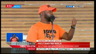 Mombasa Governor Ali Hassan Joho warns the various officials inside ODM to stop internal wrangles