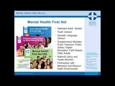 Mental Health First Aid: Building Safety and Reducing Stigma