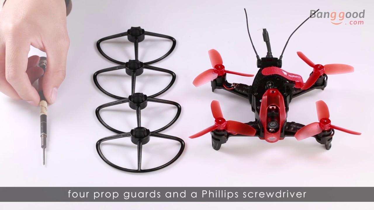 16821d555 Walkera Rodeo 110 110mm FPV Racing Drone w/ 600TVL HD Camera 5.8GHz 40CH  Transmission BNF RTF - YouTube