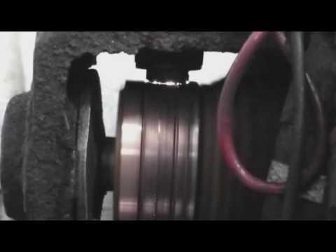 Sparking in DC motor commutation
