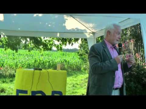 Wolfgang Kubicki bei Grillfest der FDP Weinehim am 11.07.2013