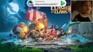 JUEGO CLASH OF CLANS A LAS 3:AM!!JUAN GAMER