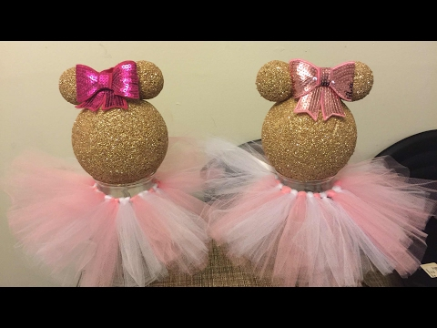 DIY Dollar Tree Minnie Mouse Centerpiece