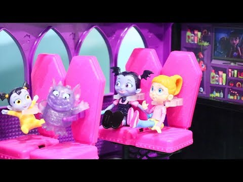 Vampirina and Her Vampire Family Go on a Trip in MH Camper - Fun Pretend Play With Toys and Dolls