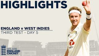 Day 5 Highlights | England Win As Broad Takes 500th Wicket | England v West Indies 3rd Test 2020