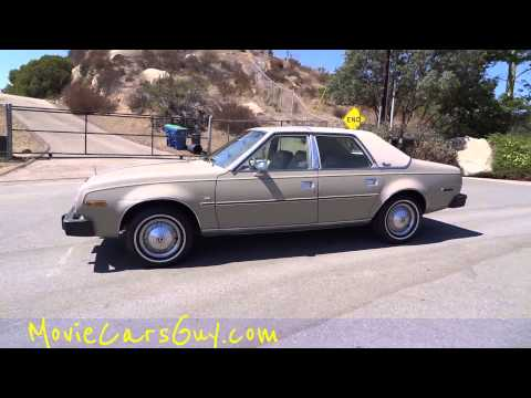 Movie Cars Classic AMC Concord TV Television Rare For Sale Films Movies Car Walkaround