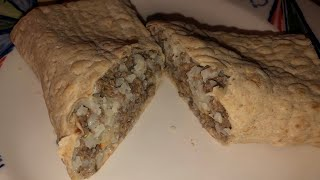 Keto Recipe....Hamburger Hot dish Wrap!