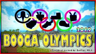 BOOGA OLYMPICS OPENING CEREMONY - 1st EVENT BASE BUILD (Roblox Booga Booga)