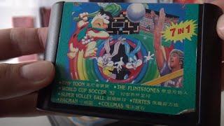 "Sega Mega Drive / Genesis - Oldschool  ""7 in 1"" Multi Retro Game Card Collection"