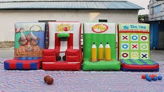 4in1 kids N adults airtight inflatable carnival games for outdoor group building