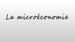 """La Microéconomie - Chapitre 1 : """"la théorie de la production"""" 1ère séance"""