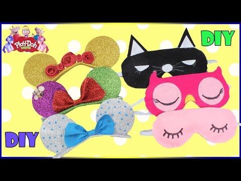 Sleep Mask DIY | Disney Princess Headband Compilation | How To Make  Eye Mask