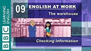 Checking information - 09 - English at Work checks that things are correct