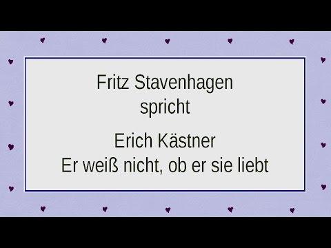"""Erich Kästner """"Er weiß nicht, ob er sie liebt"""
