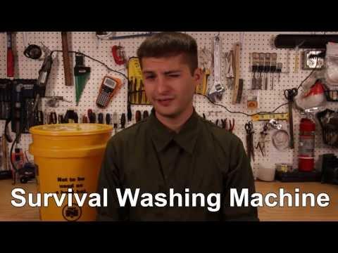 DIY Survival Washing Machine