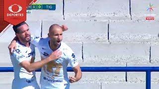 Gol de Carlos González | Pumas 1 - 0 Tigres | Cuartos de Final |Televisa Deportes