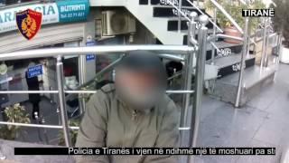 Policia e Tiranës i vjen në ndihmë një të moshuari të pastrehë