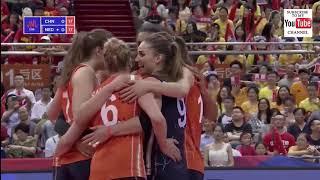 China  - Netherlands Final 6 VNL 2018 W - Full Match Highlights - HD