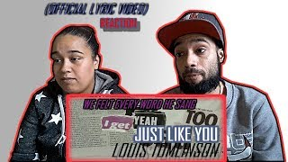 Louis Tomlinson Just Like You Official Audio Reaction