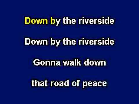 Down By The Riverside, Karaoke video with lyrics, Instrumental Version