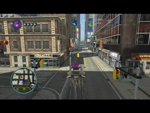 LEGO Marvel Super Heroes - Unlocking and Flying the Chitauri Chariot (Vehicle Token Location)