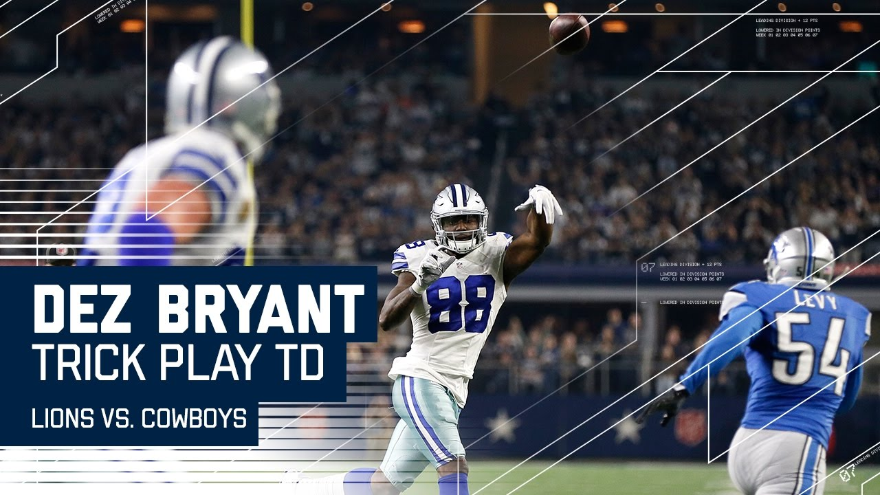 Dez Bryant Throws Td To Witten Trick Play Alert Lions Vs Cowboys Nfl Week 16 Highlights