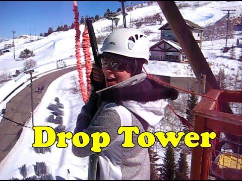 Utah Olympic Park Drop Tower Park City Utah - Daredevil Girl