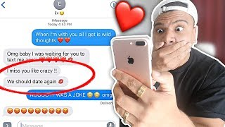 CHEATING PRANK WITH EX-GIRLFRIEND BACKFIRES!! (SHE WANTS ME BACK)