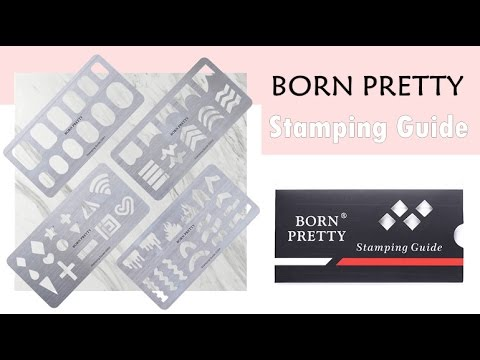 BornPretty Stamping Guide Templates Stainless Steel Nail Art