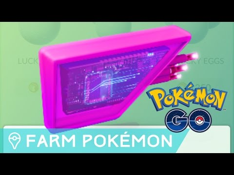 FARMING POKÉMON USING LURE MODULES IN POKÉMON GO
